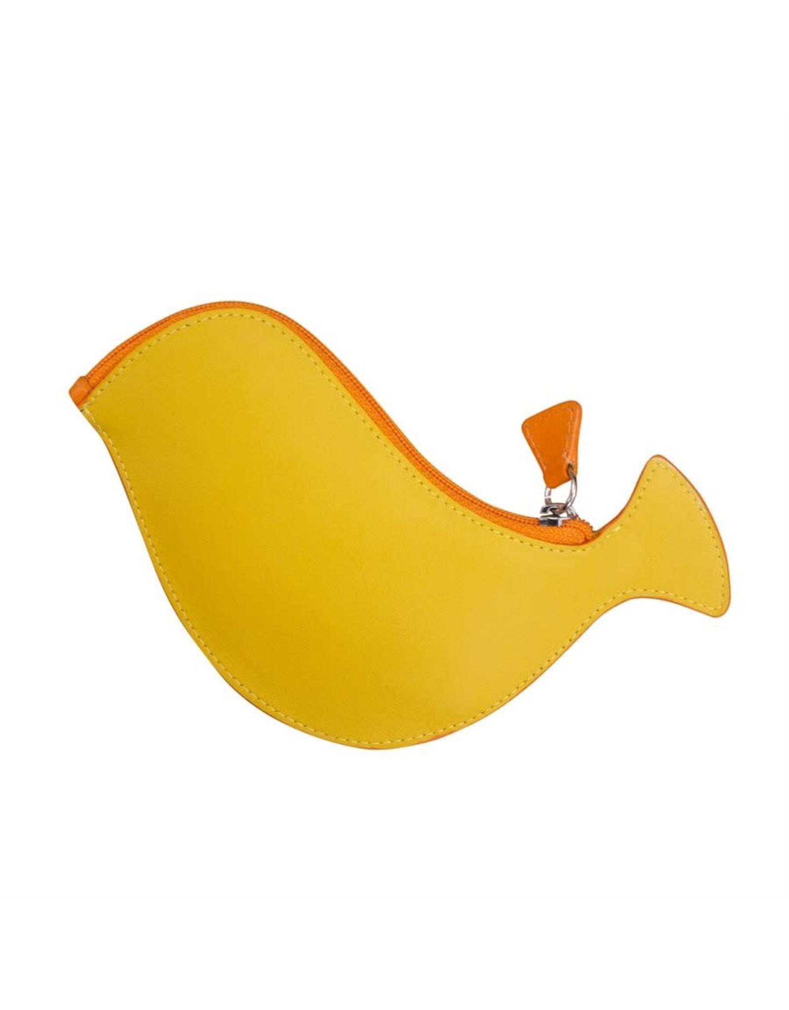 Leather Handbags and Accessories 6455 Papaya - Bird Coin Purse
