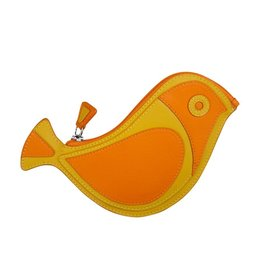 6455 Papaya - Bird Coin Purse
