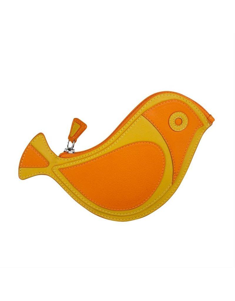 6455 Papaya - Bird Coin Purse