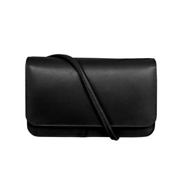 Leather Handbags and Accessories 6517 Black - RFID Smartphone Crossbody