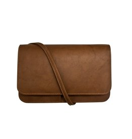 Leather Handbags and Accessories 6517 Toffee - RFID Smartphone Crossbody
