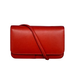 Leather Handbags and Accessories 6517 Red - RFID Smartphone Crossbody