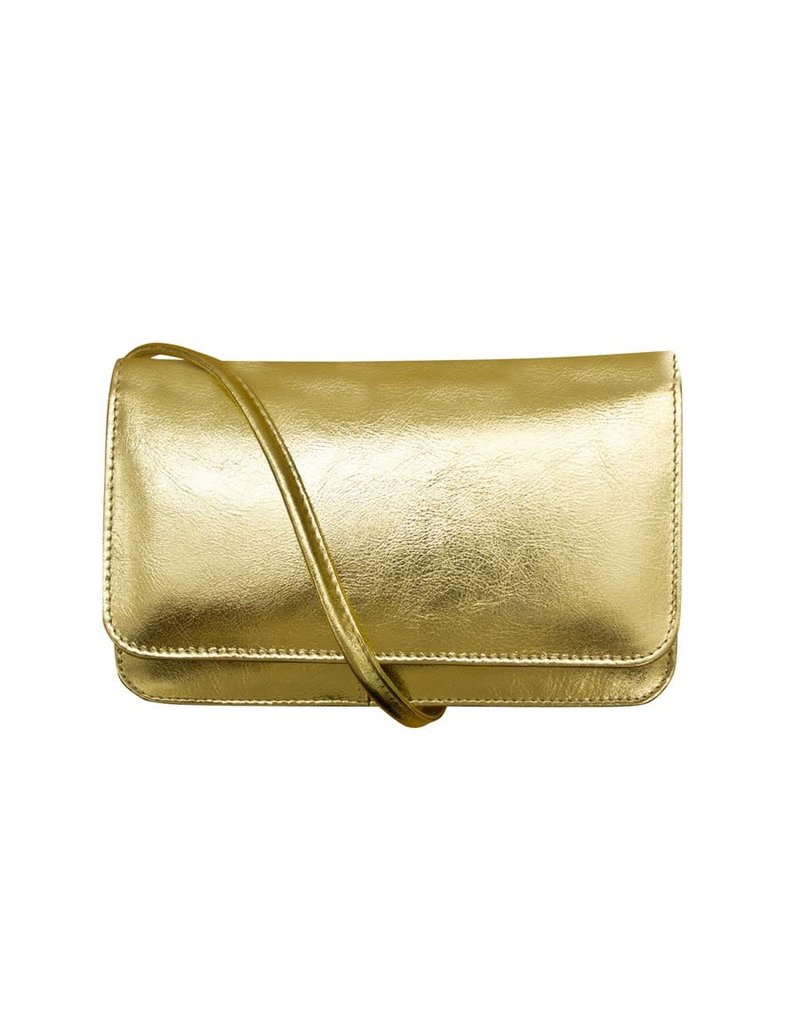 Leather Handbags and Accessories 6517M Gold - RFID Smartphone Crossbody