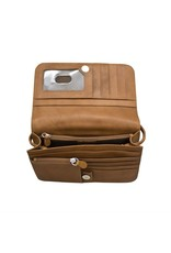 Leather Handbags and Accessories 6517 Antique Saddle - RFID Smartphone Crossbody