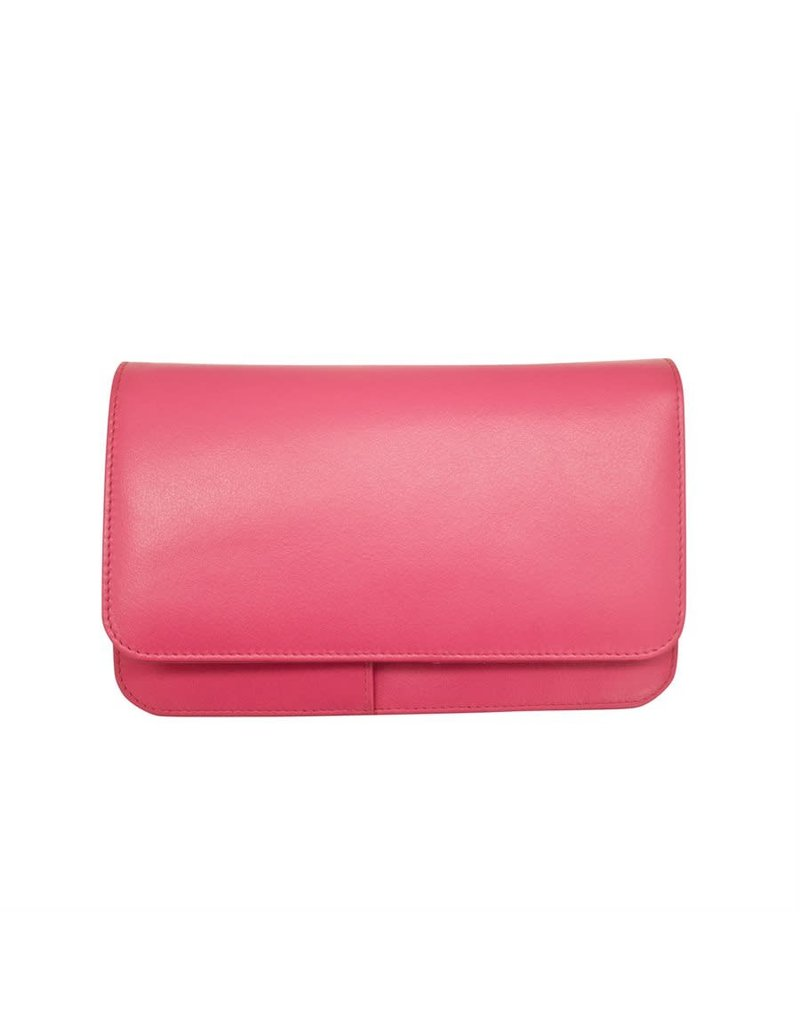 Leather Handbags and Accessories 6517 Hot Pink - RFID Smartphone Crossbody