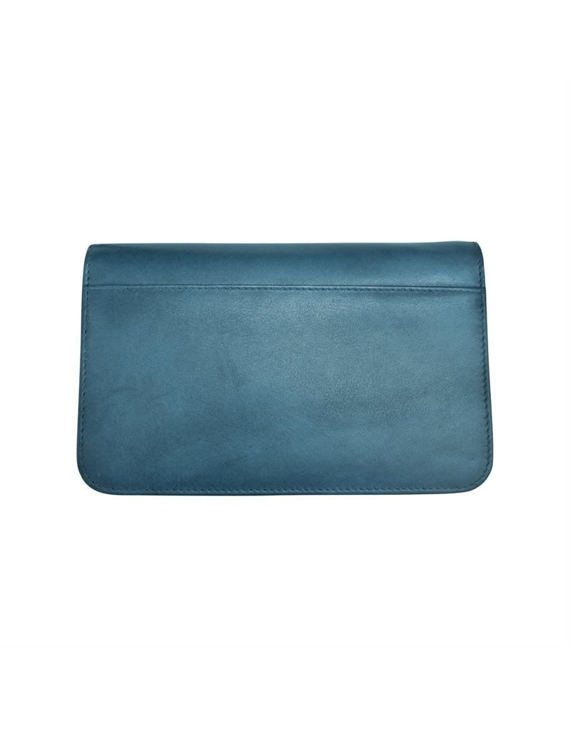 Leather Handbags and Accessories 6517 Jeans Blue - RFID Smartphone Crossbody