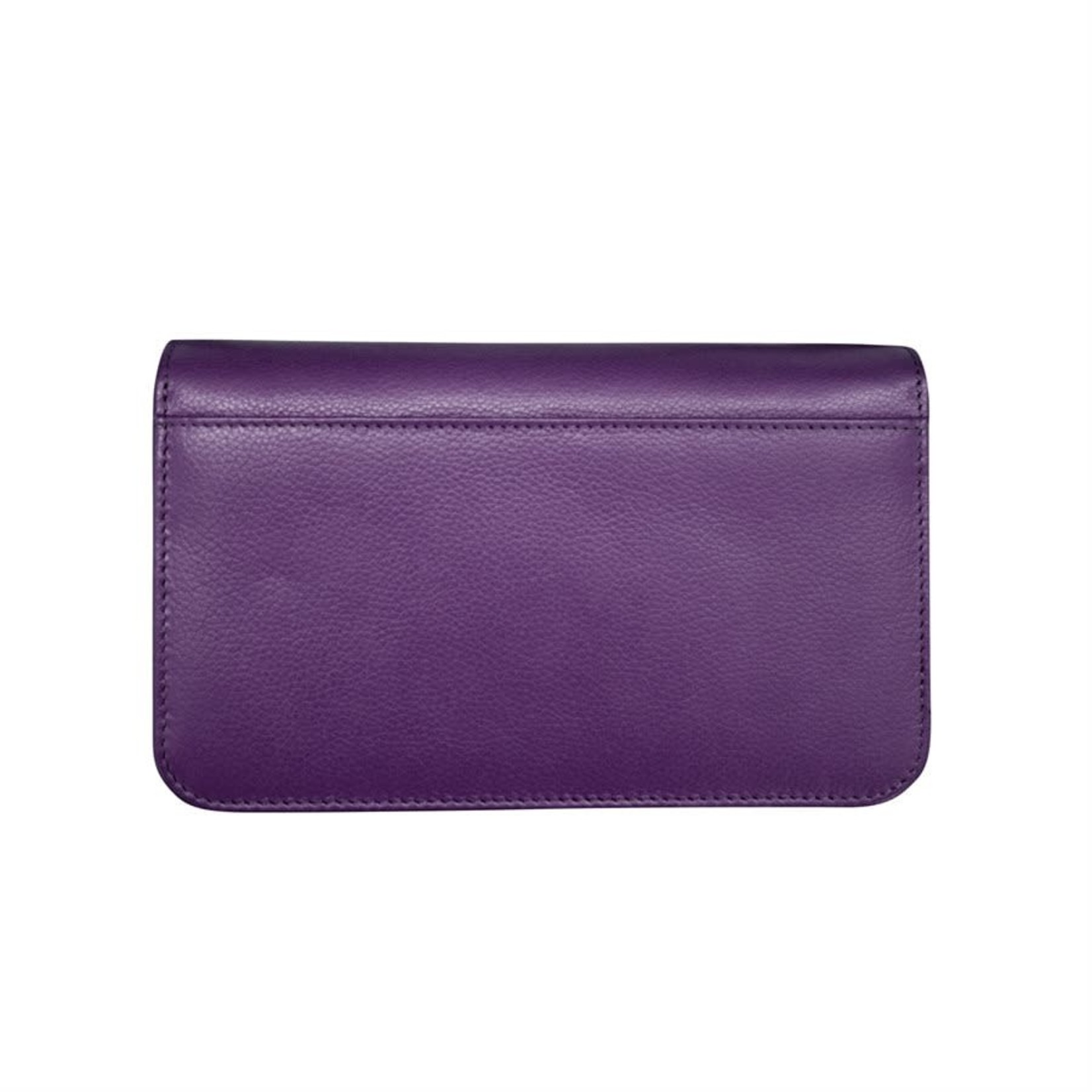 Leather Handbags and Accessories 6517 Purple - RFID Smartphone Crossbody