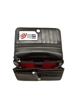 Leather Handbags and Accessories 6517 Purple - RFID Smartphone Crossbody