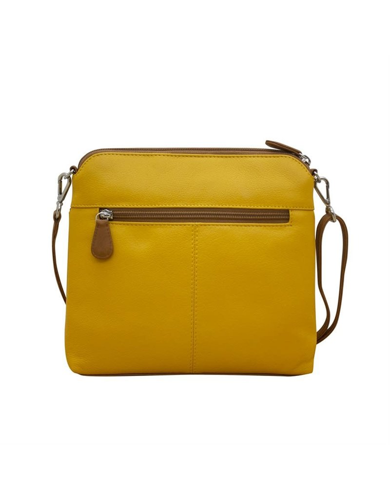 Leather Handbags and Accessories 6123 Yellowstone - Two Tone Leather Crossbody