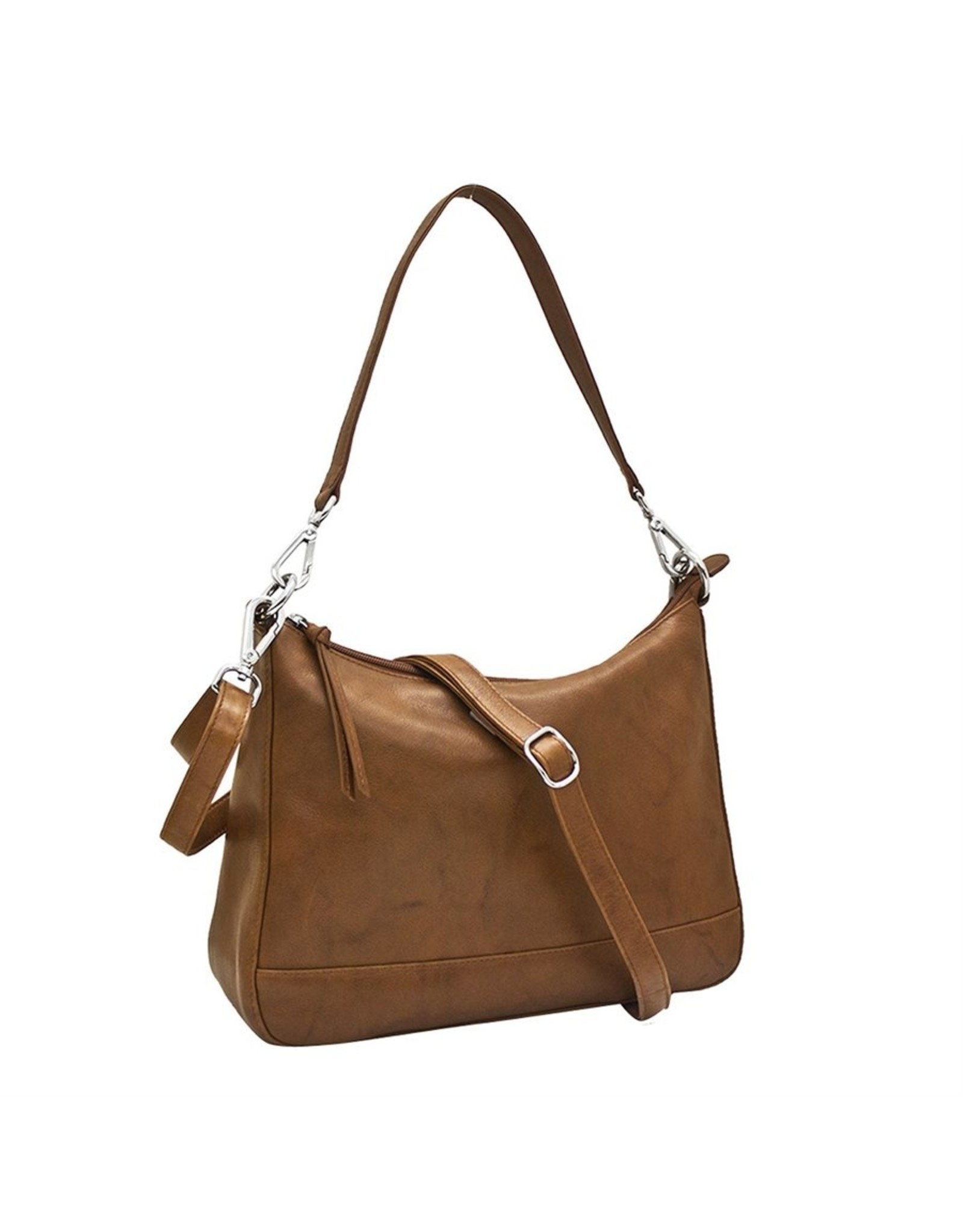 Leather Handbags and Accessories 6091 Antique Saddle - Zip Top Hobo
