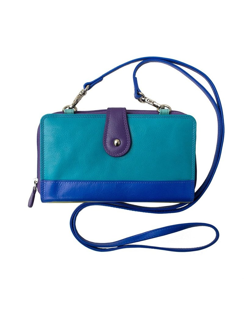 Leather Handbags and Accessories 6364 6 Plus Wallet Cool Tropics