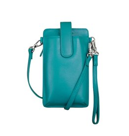 Leather Handbags and Accessories 6368 Smartphone Case Aqua