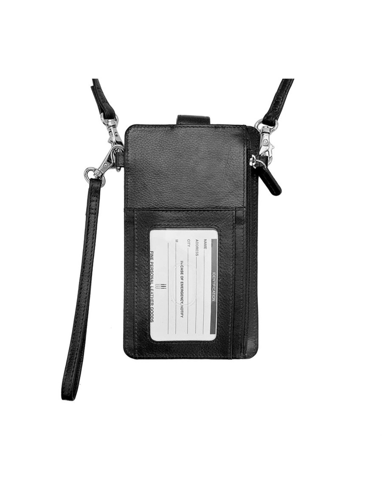 Leather Handbags and Accessories 6368 Smartphone Case Black