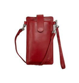 Leather Handbags and Accessories 6368 Smartphone Case Red