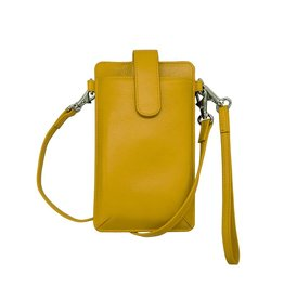 Leather Handbags and Accessories 6368 Smartphone Case Yellow