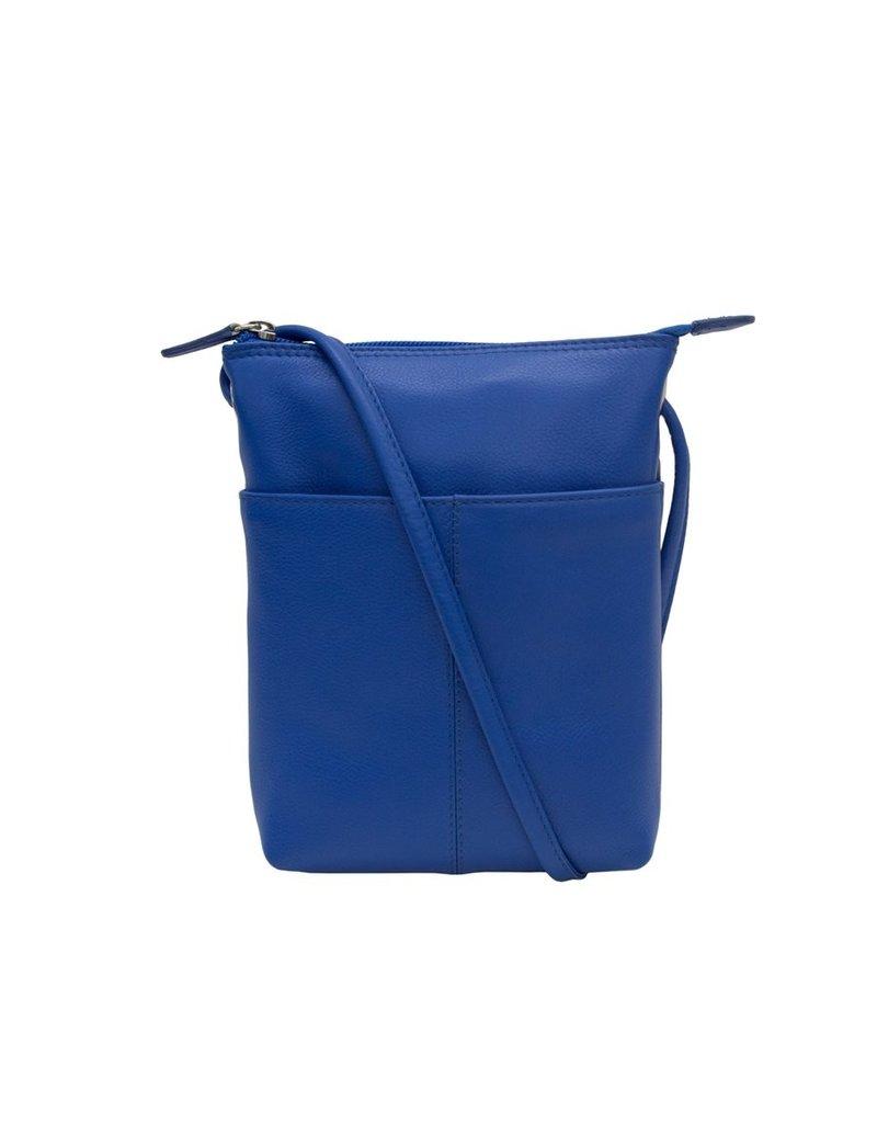 Leather Handbags and Accessories 6662 Crossbody/Shoulder Bag Cobalt