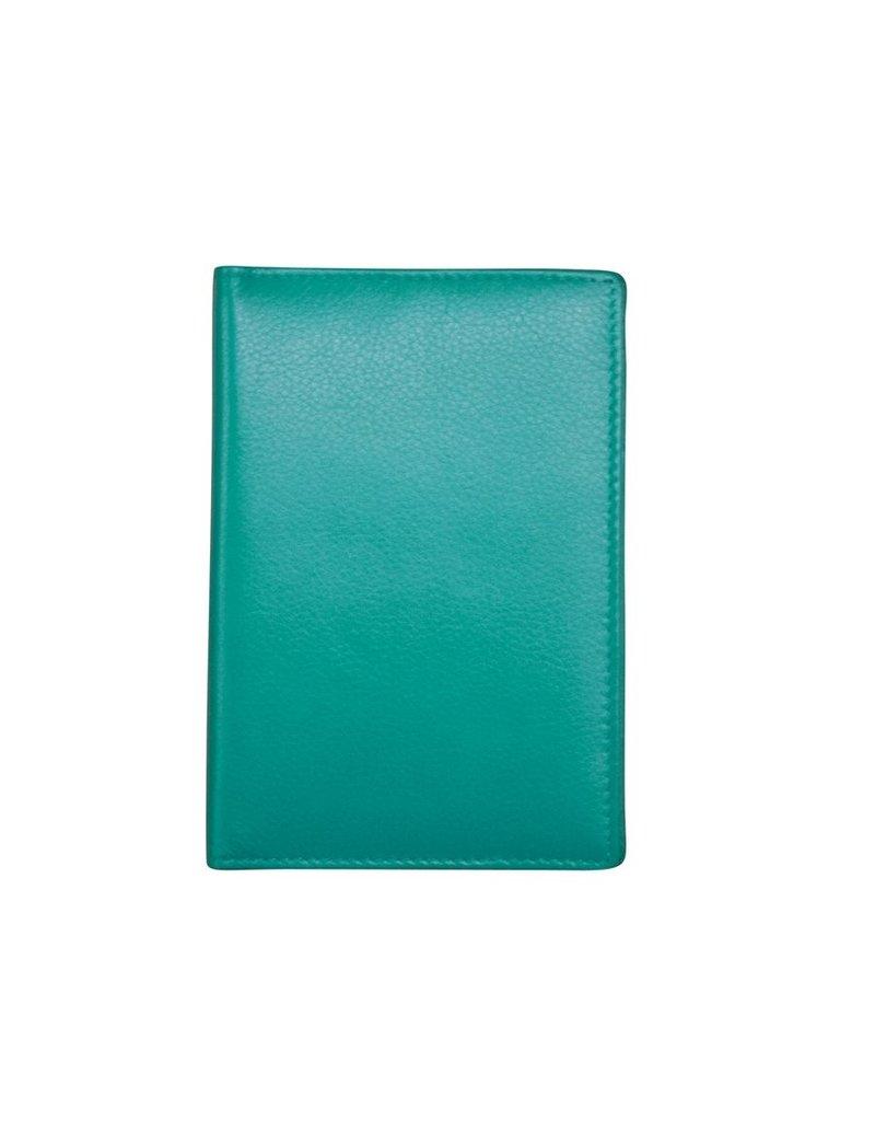 Leather Handbags and Accessories 6753 Passport Case Aqua