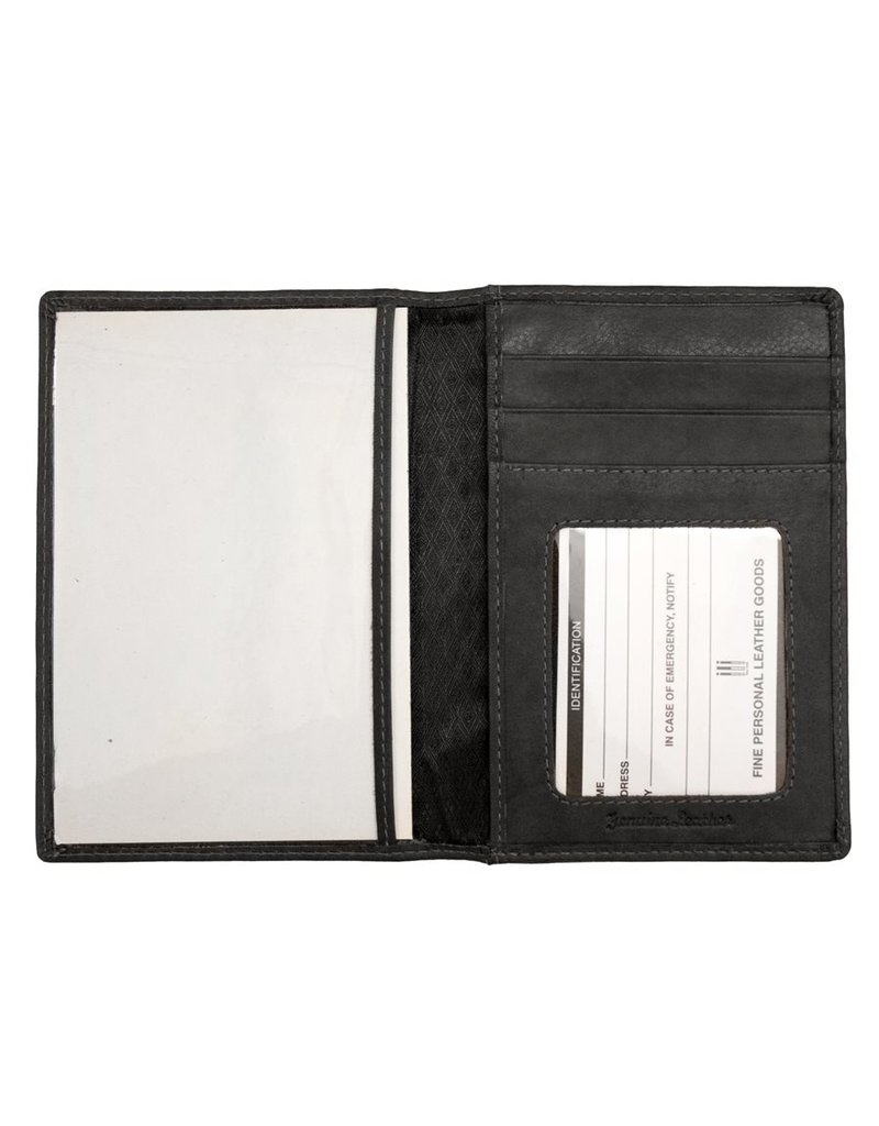 Leather Handbags and Accessories 6753 Passport Case Black