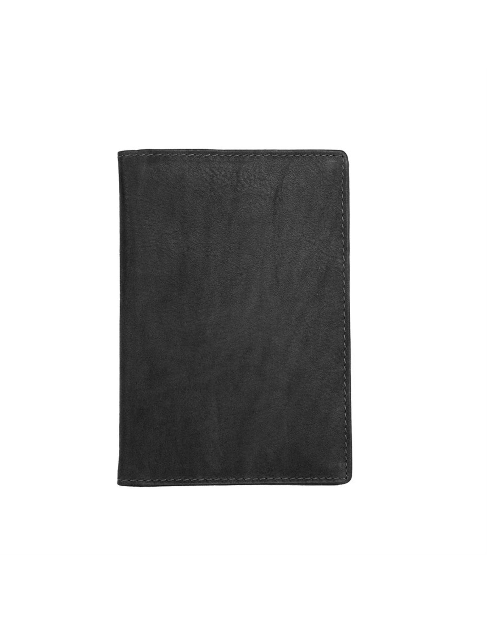 Leather Handbags and Accessories 6753 Passport Case Black