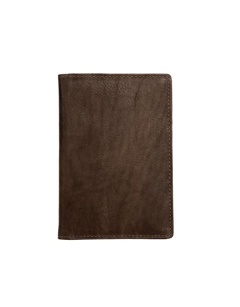 Leather Handbags and Accessories 6753 Passport Case Brown