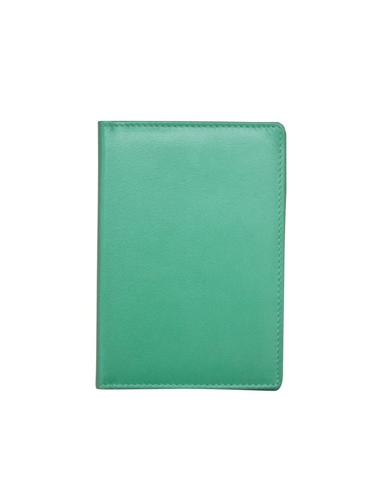 Leather Handbags and Accessories 6753 Passport Case Turquoise
