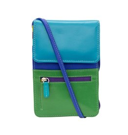 Leather Handbags and Accessories 6827 Organizer on a String Cool Tropics