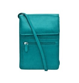Leather Handbags and Accessories 6829 Organizer on a String Aqua