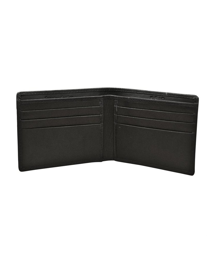 Leather Handbags and Accessories 7120 BiFold Mens Wallet Black