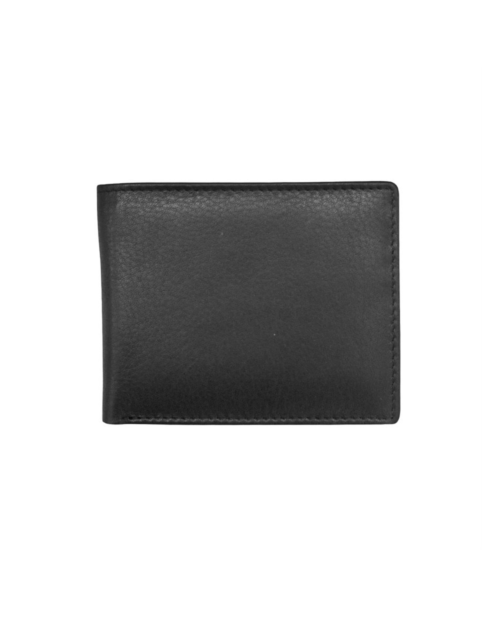 Leather Handbags and Accessories 7120 Black - RFID BiFold Wallet