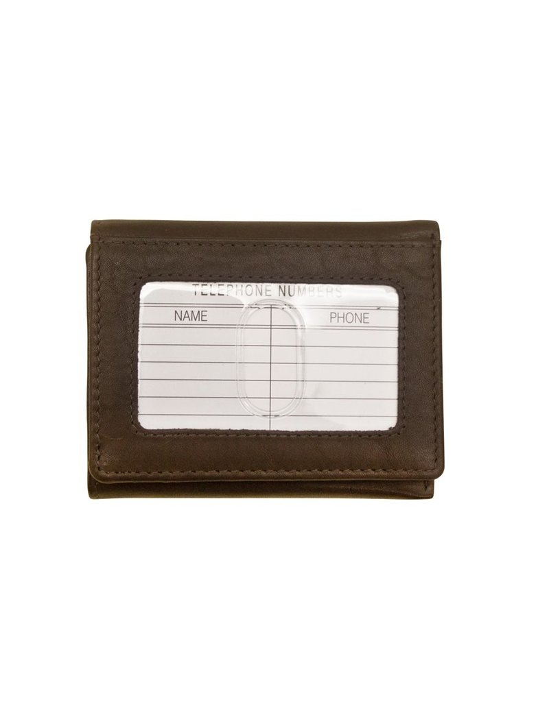 Leather Handbags and Accessories 7130 Mens Wallet Brown