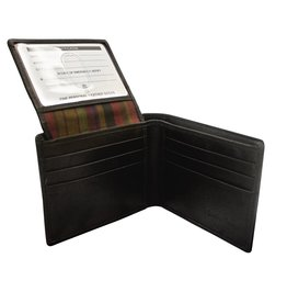 Leather Handbags and Accessories 7151 Mens Wallet Black