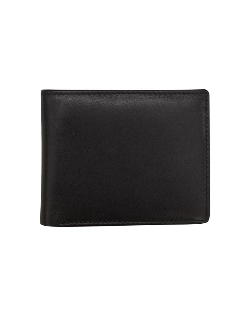 Leather Handbags and Accessories 7162 Mens Wallet Black