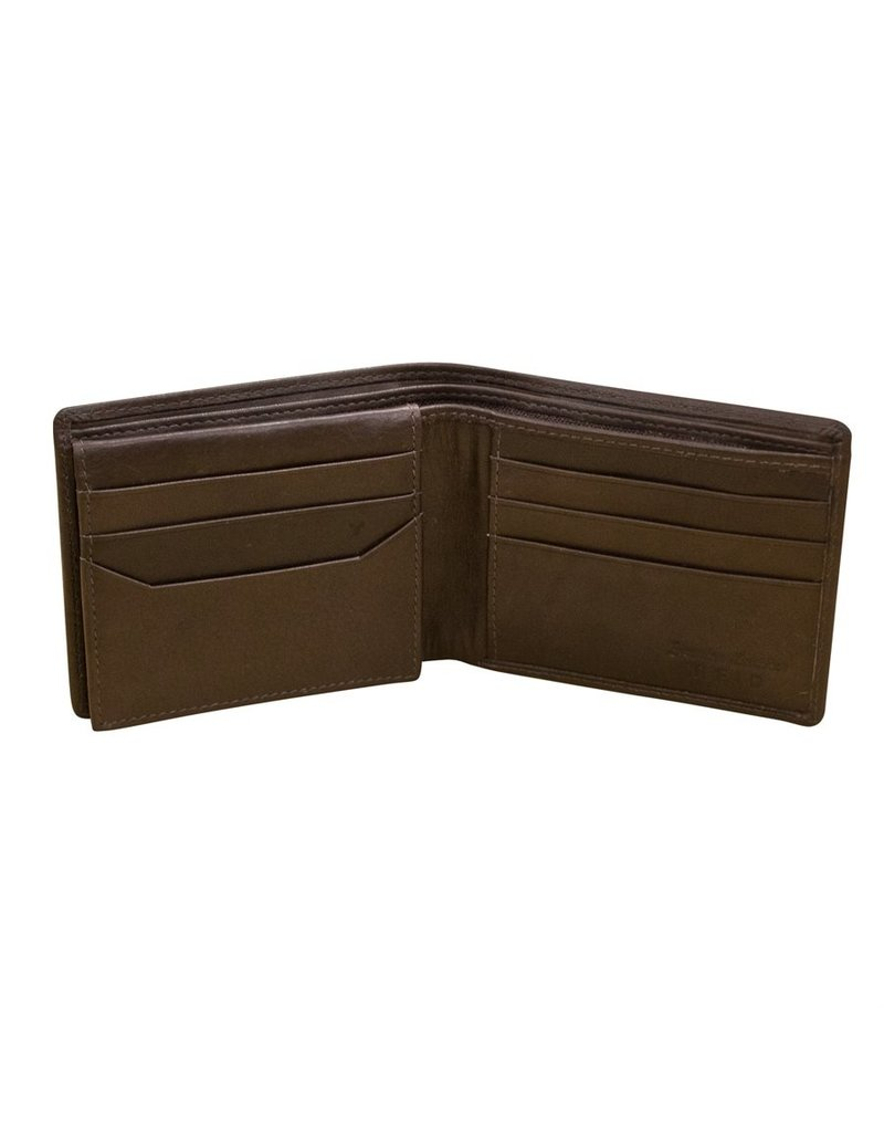 Leather Handbags and Accessories 7162 Mens Wallet Brown