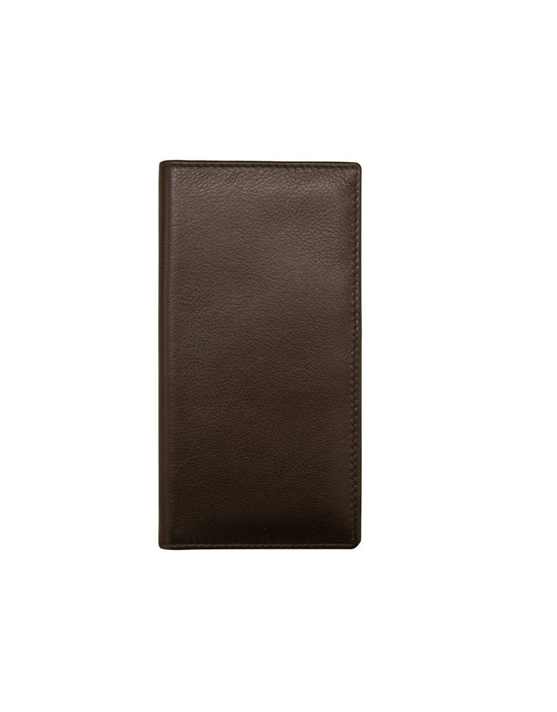 Leather Handbags and Accessories 7406 Checkbook Cover Brown
