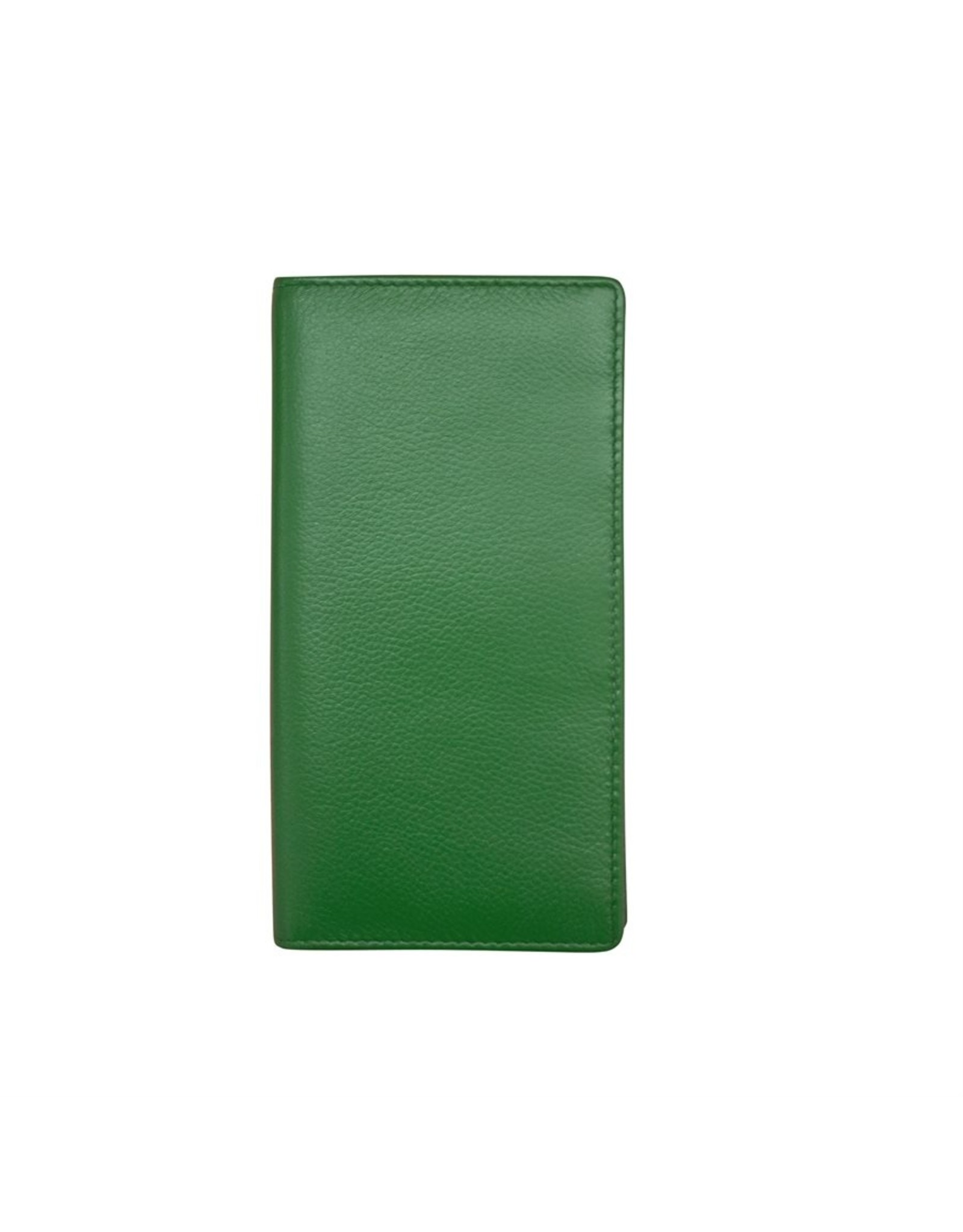 Leather Handbags and Accessories 7406 Checkbook Cover Emerald