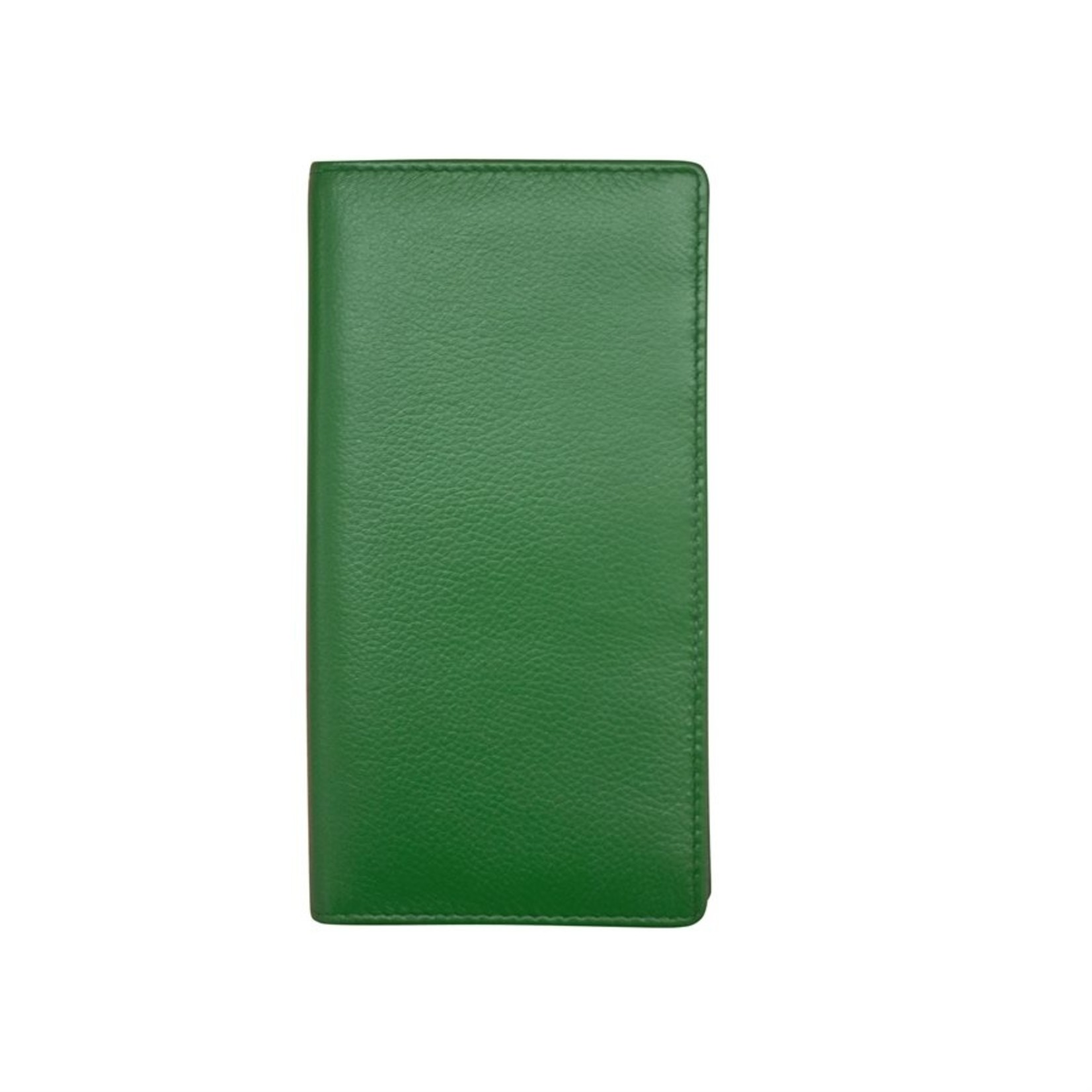 Leather Handbags and Accessories 7406 Emerald - RFID Checkbook Cover