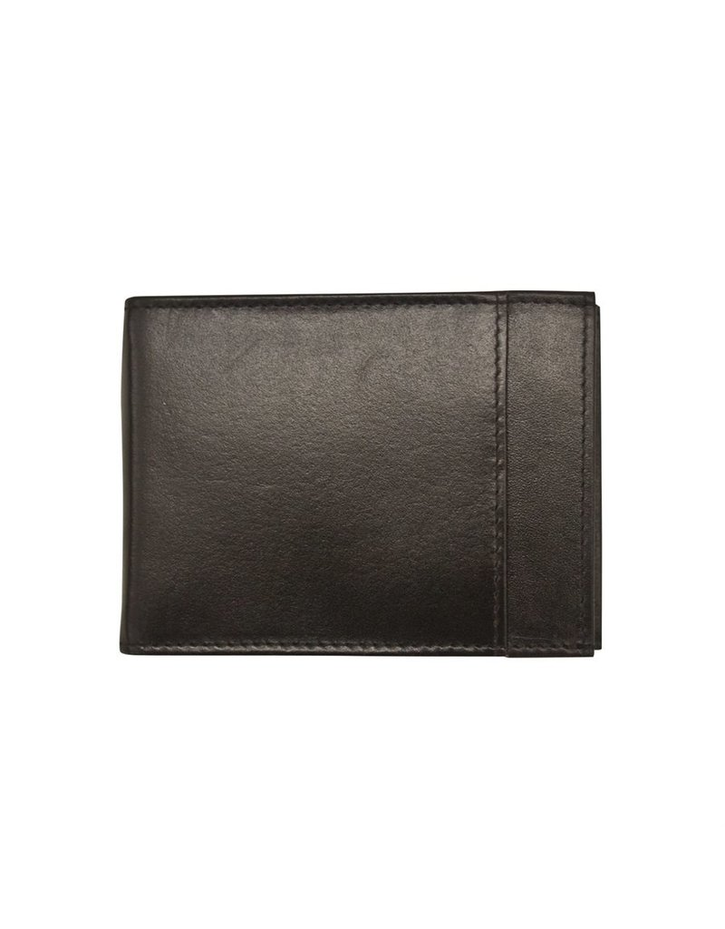 Leather Handbags and Accessories 7719 Mens Wallet Black