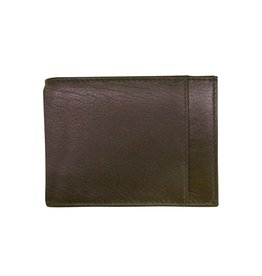 Leather Handbags and Accessories 7719 Brown - RFID Money Clip Wallet