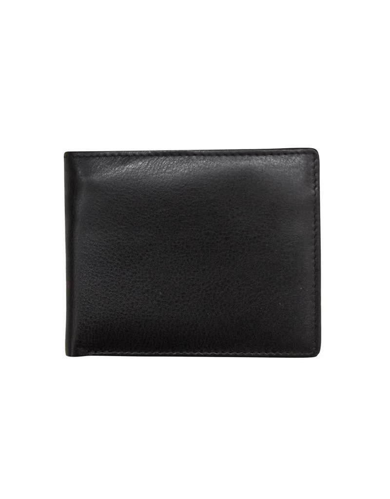 Leather Handbags and Accessories 7722 Mens Wallet Black
