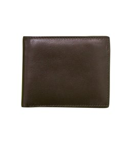 Leather Handbags and Accessories 7722 Mens Wallet Brown