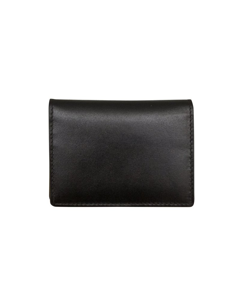 Leather Handbags and Accessories 7725 Mens Wallet Black