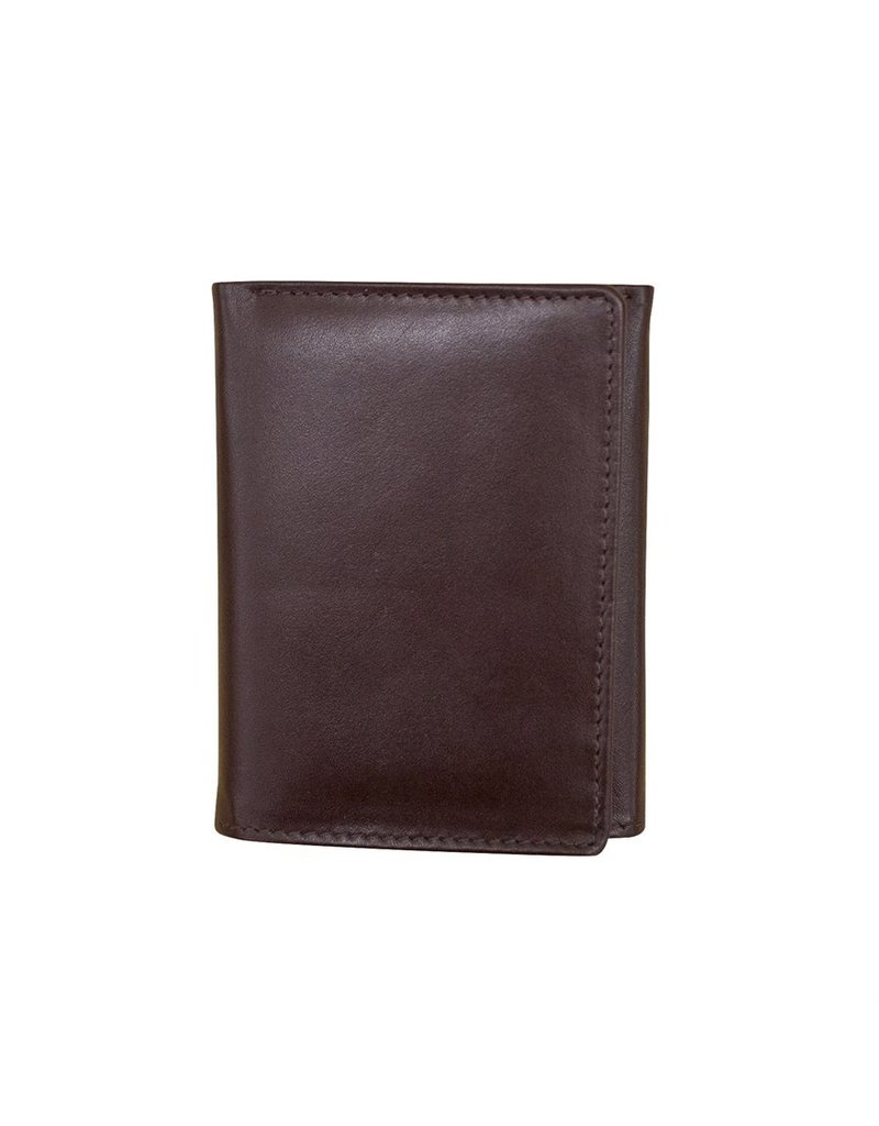 Leather Handbags and Accessories 7730 Mens Wallet Brown