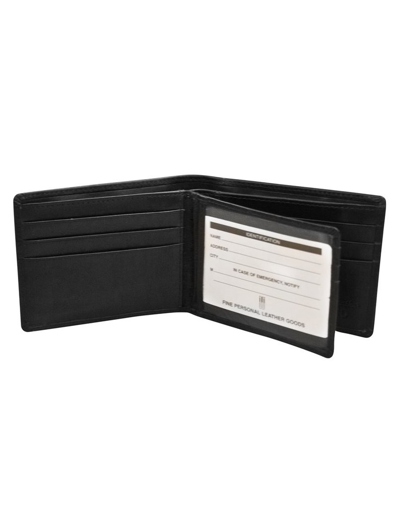 Leather Handbags and Accessories 7746 Mens Wallet Black