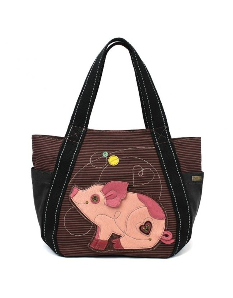 Chala Carryall Zip Tote Pig