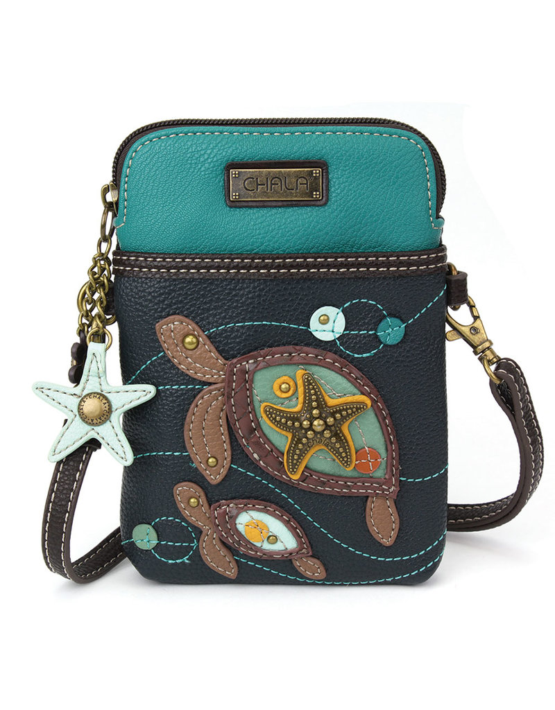 Chala Cell Phone Crossbody Two Turtles