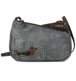 Chala Criss Crossbody Wiener Dog