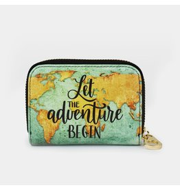 Fig Design Group Zip Around Wallet - Let Adventure Begin