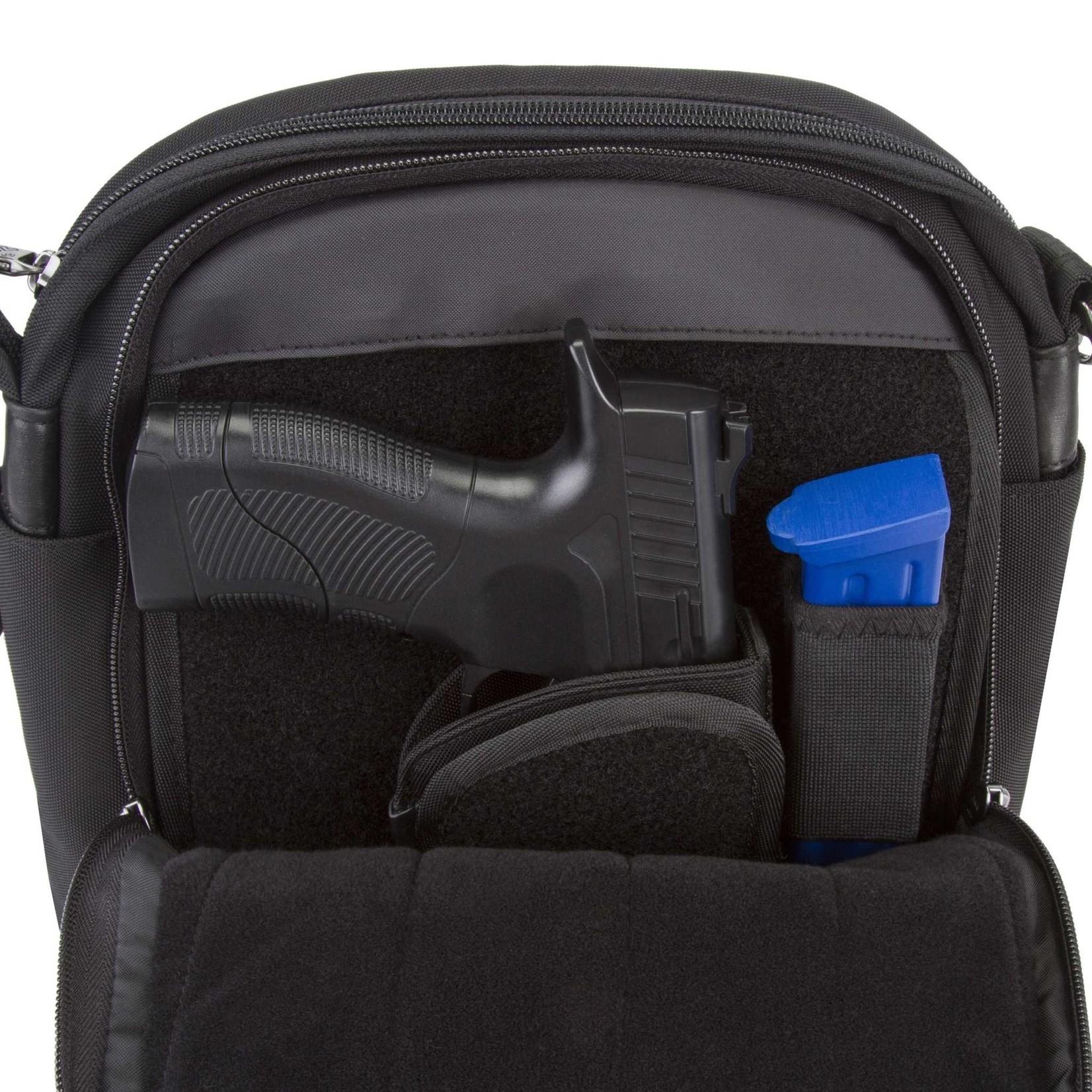 Travelon 43048-500-0060-01 AT Concealed Carry Tour Bag - Black
