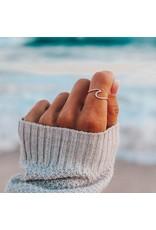 puravida Wave Ring Size 5 - Rose Gold