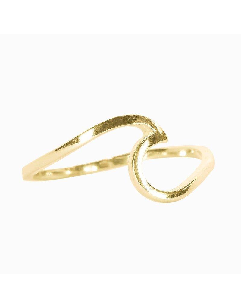 puravida Wave Ring Size 6 - Gold